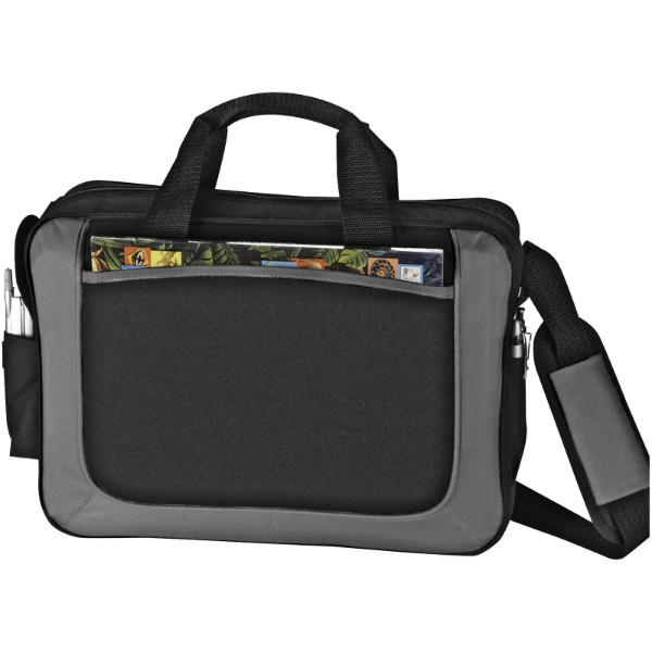 The Dolphin business briefcase - Solid black / Grey