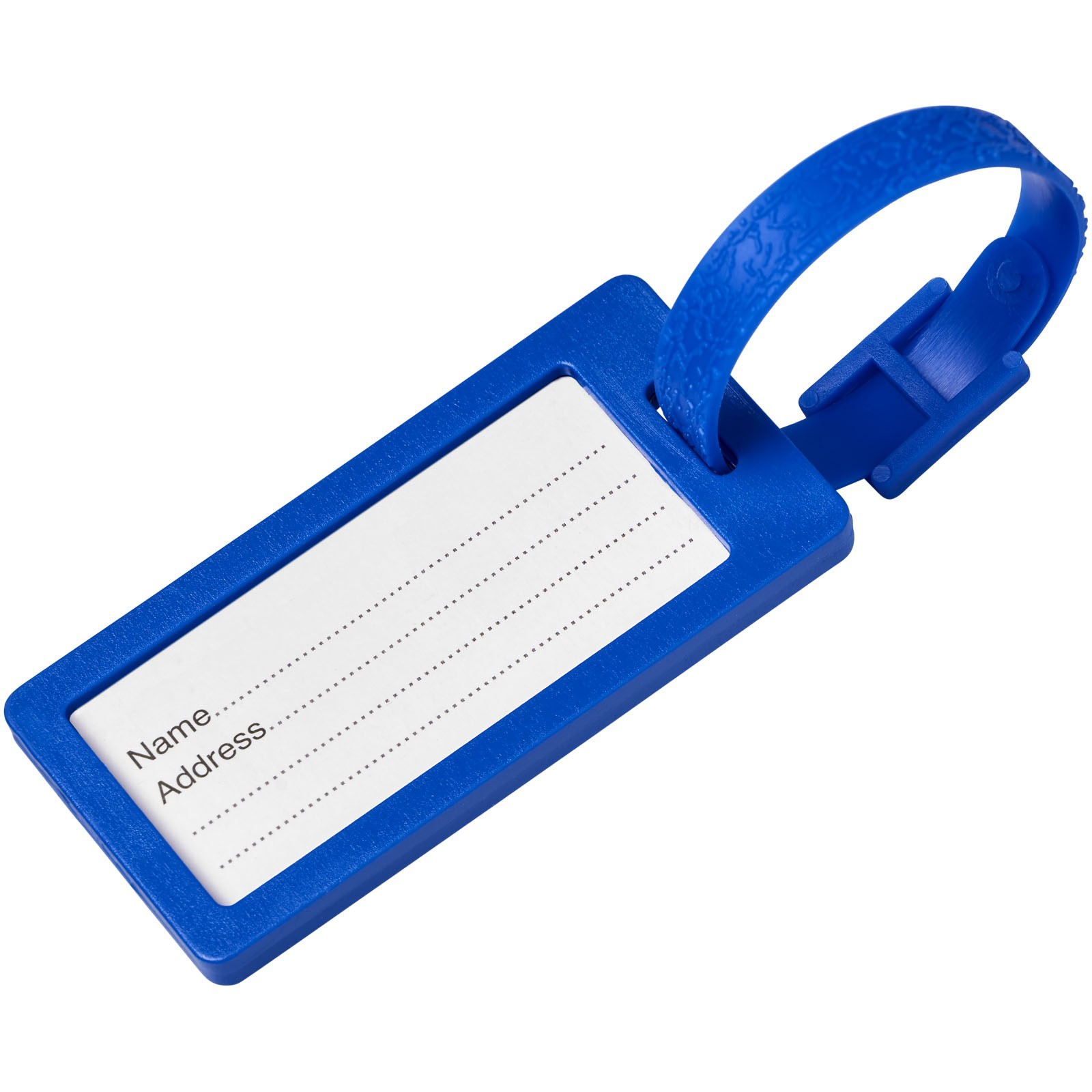 Štítek na zavazadla s okénkem River - Modrá