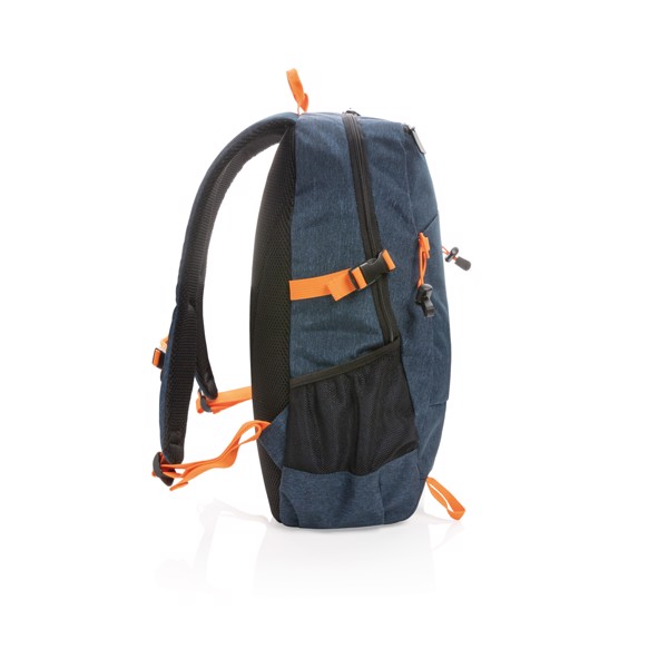 Outdoor RFID laptop backpack PVC free - Blue / Orange