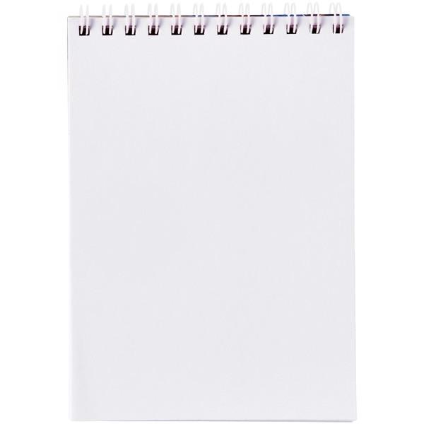 Poznámkový blok Desk-Mate® wire-o A6 - Bílá / 50 pages