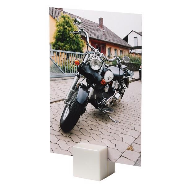"""Notizhalter """"Magnet-Quadrat"""" - Weiß"""