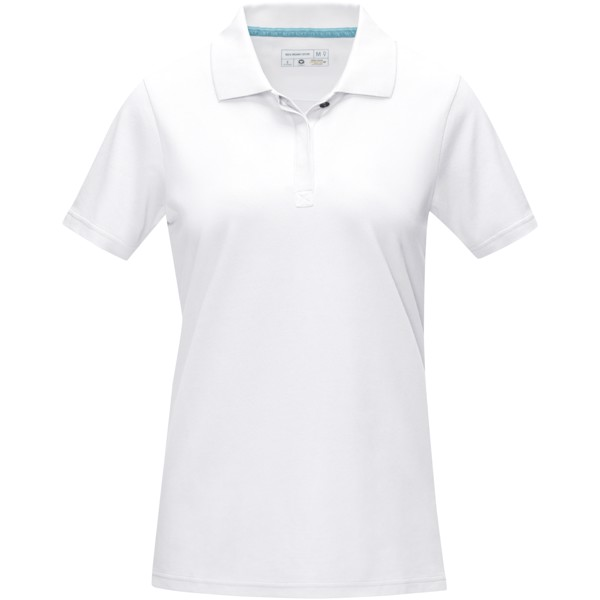Graphite short sleeve women's GOTS organic polo - White / XS