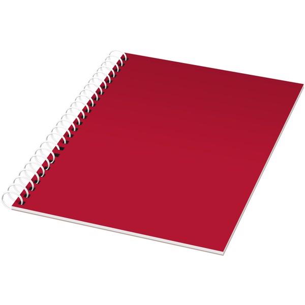 Poznámkový blok Rothko A5 - Červená s efektem námrazy / Bílá / 50 pages