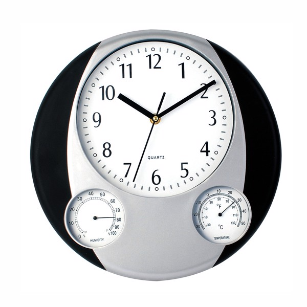 Wall Clock Prego - Black