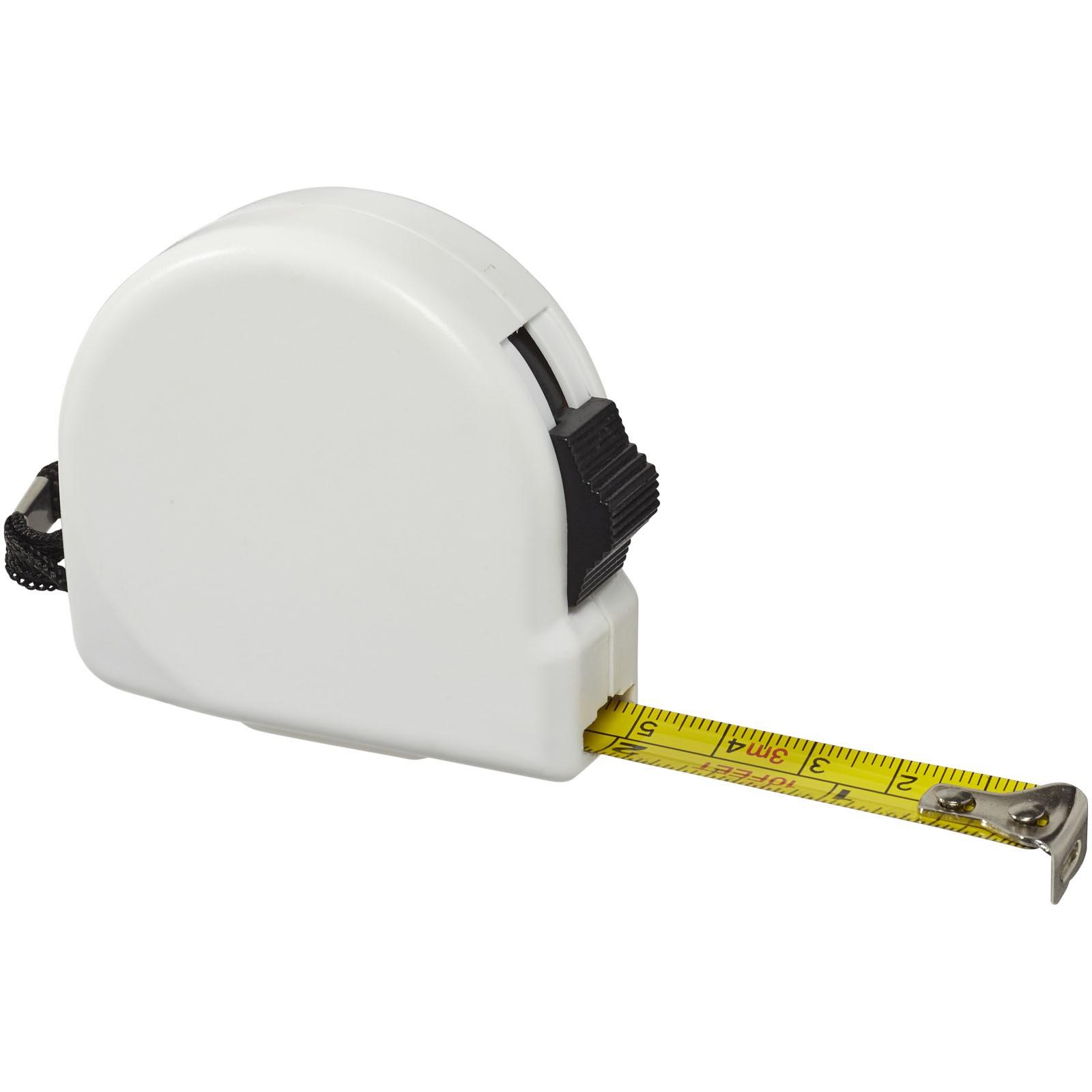 Clark 3 metre measuring tape - White