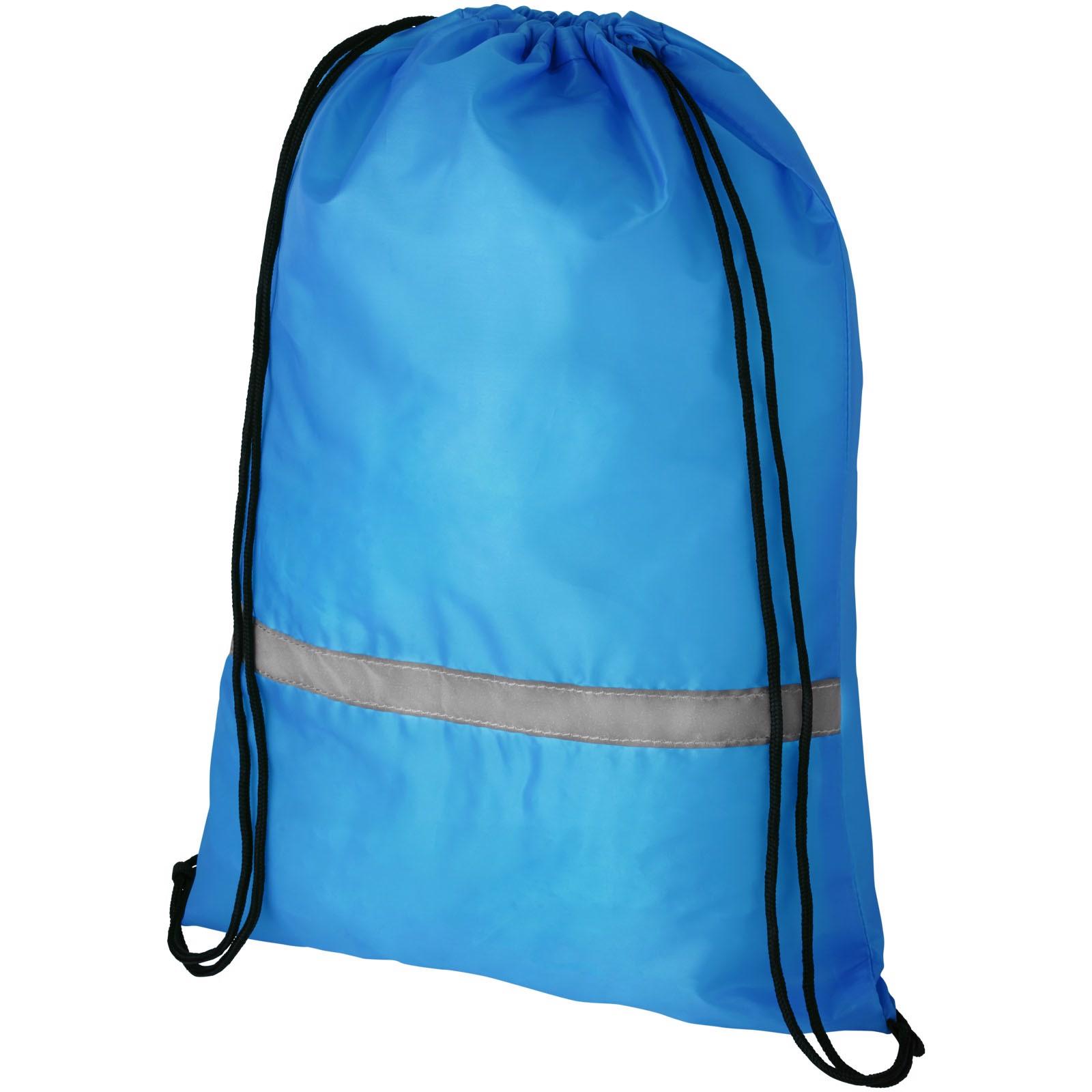 Oriole bezpečnostní šňůrkový batoh - Akvamarínová