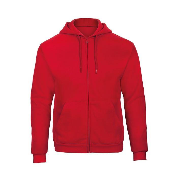 Hooded sweat men Hooded Full Zip Sweat Unisex - Red / XL