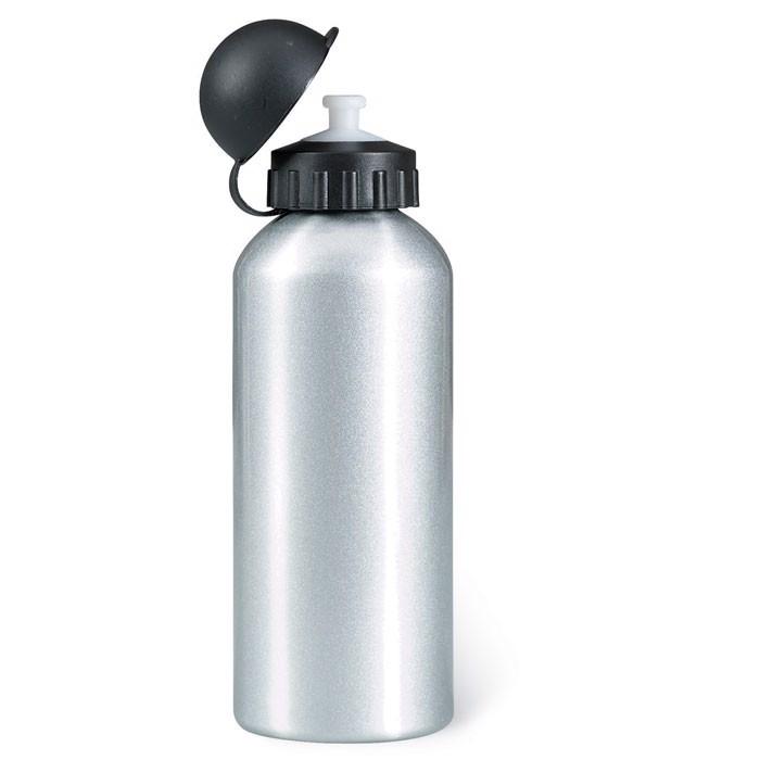 Metal drinking bottle (600 ml) Biscing - Matt Silver