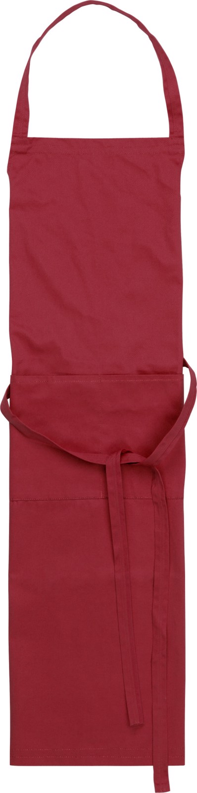 Cotton and polyester (240 gr/m²) apron - Burgundy