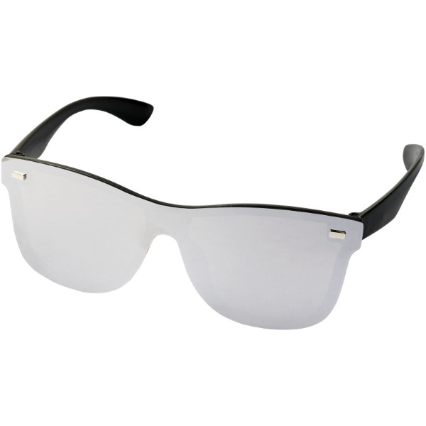 Okulary przeciwsłoneczne Shield z w pełni lustrzanymi soczewkami - Srebrny