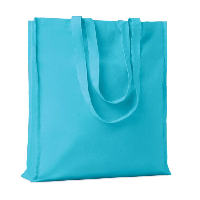 Cotton shopping bag w/ gusset Portobello - Turquoise