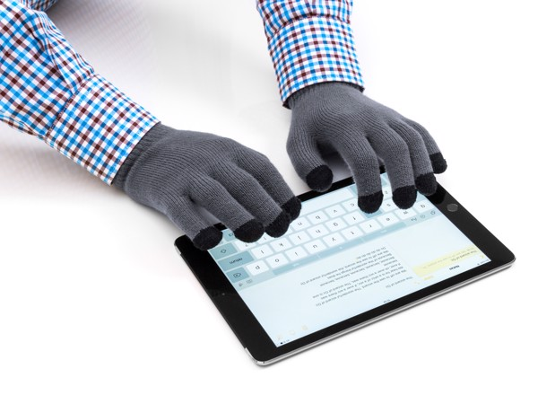 Mănuși Pentru Touch Screen Tellar - Gri / Negru