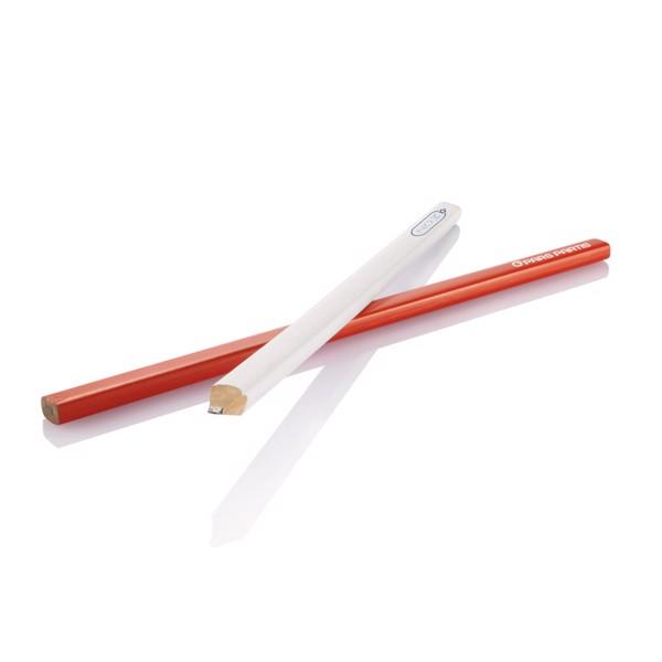 25cm dřevěná tesařská tužka - Červená