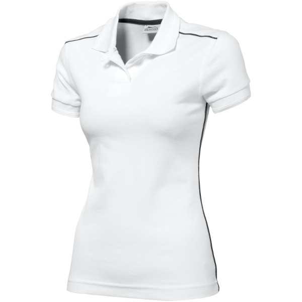 Backhand short sleeve ladies polo - White / XXL