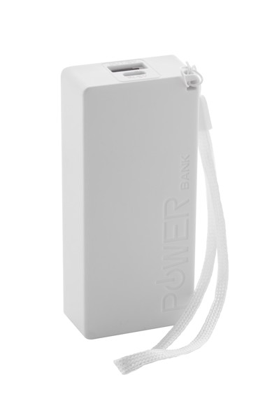 Usb Power Bank Nibbler - White