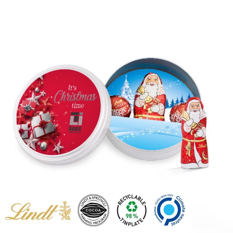 Weihnachtsdose Lindt - Weiß