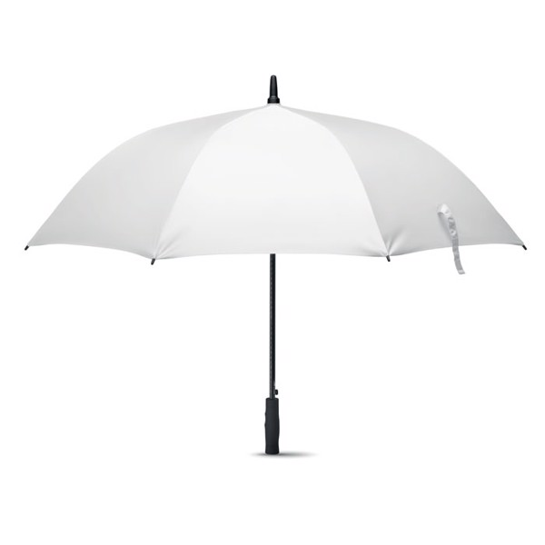 Windproof umbrella 27 inch Grusa - White