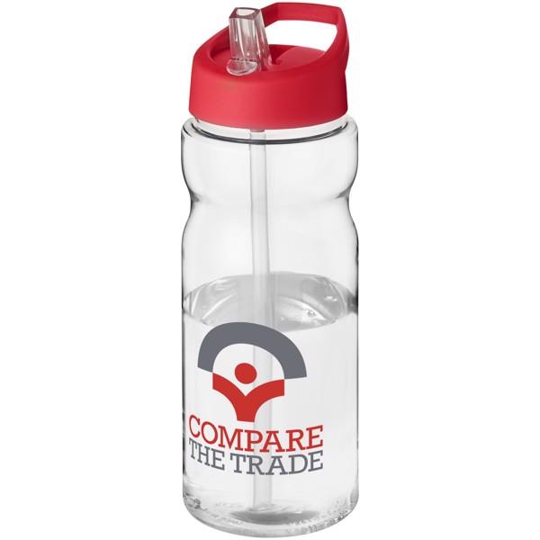 Sportovní láhev s víčkem s hubičkou H2O Base® 650 ml - Průhledná / Červená s efektem námrazy