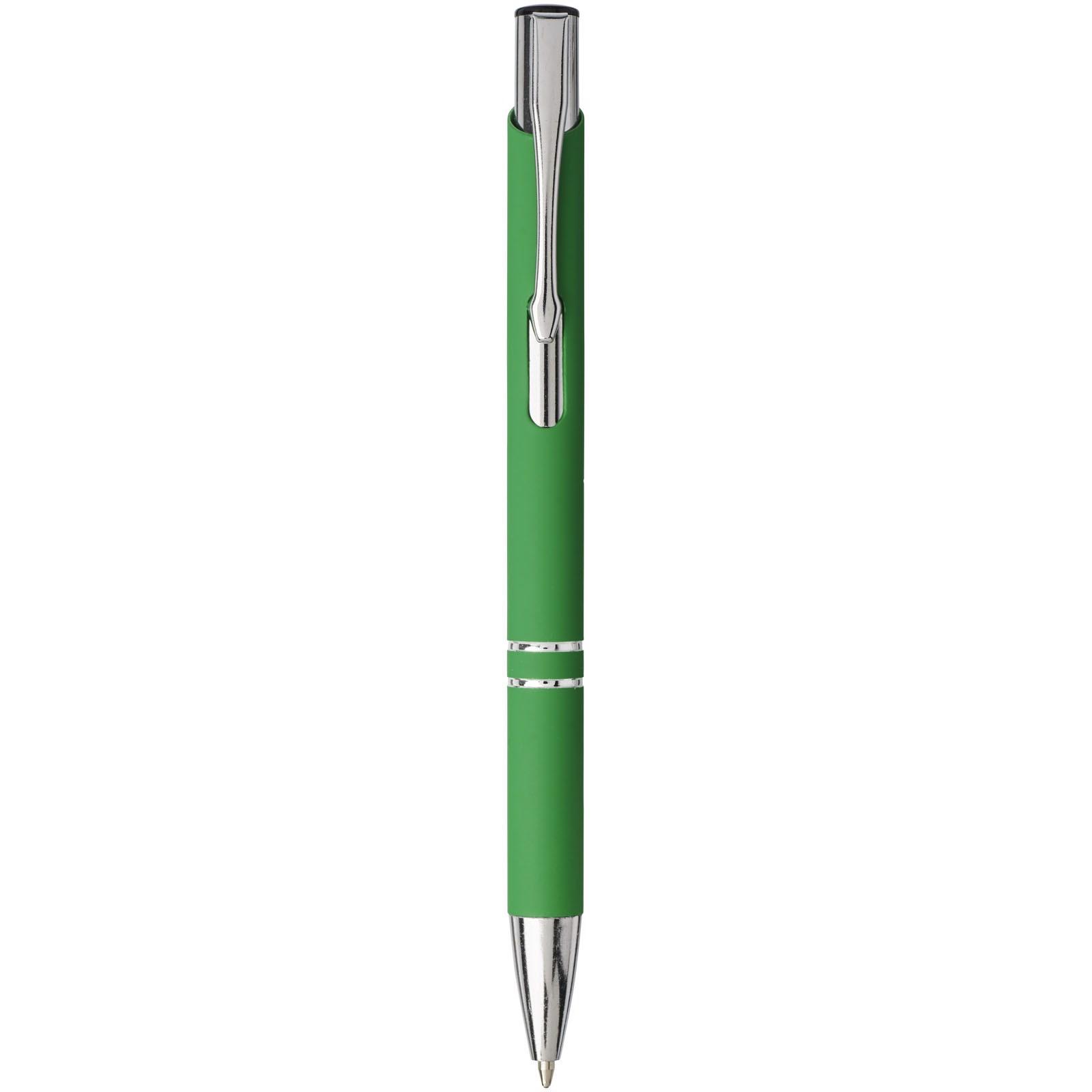 Moneta stiskací kuličkové pero s jemným úchopem - Zelená