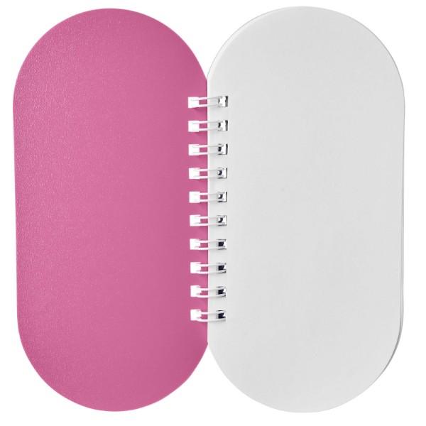 Poznámkový blok Capsule - Růžová / Bílá