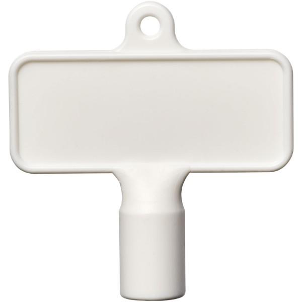 Maximilian rectangular universal utility key - White