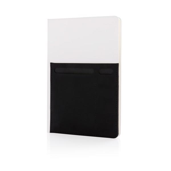 Poznámkový blok A5 s chytrými kapsami - Bílá