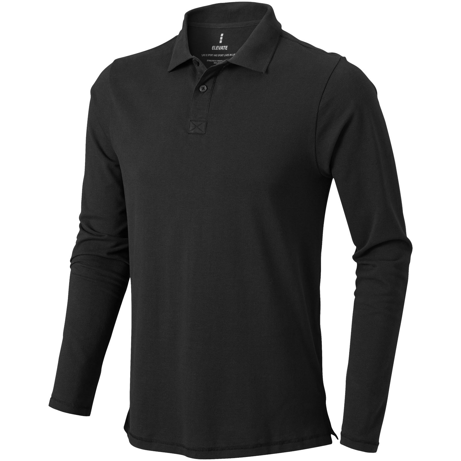 Oakville long sleeve men's polo - Anthracite / XL
