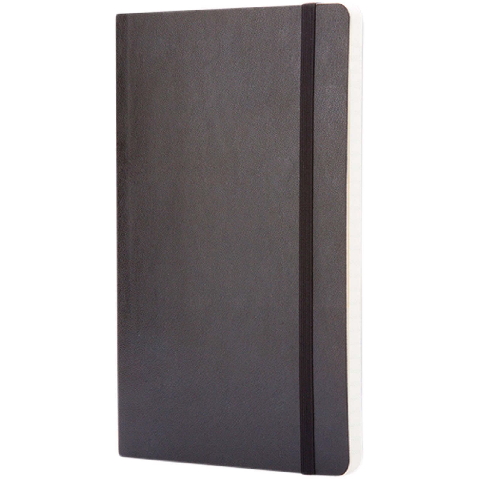 Classic L soft cover notebook - ruled - Solid black