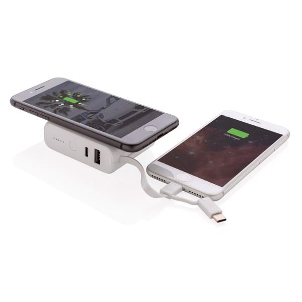 5000 mAh powerbank 5W-os vezeték nélküli töltővel