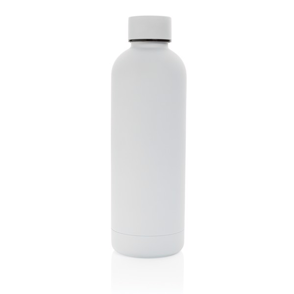 Impact stainless steel double wall vacuum bottle - White