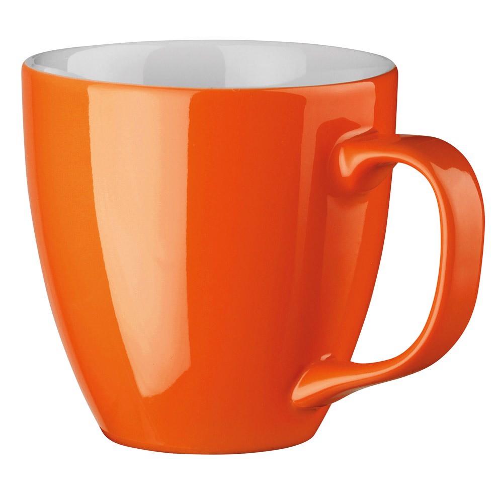 PANTHONY. Porcelain mug 450 ml - Orange