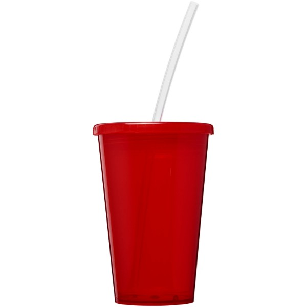 Stadium 350 ml double-walled cup - Red