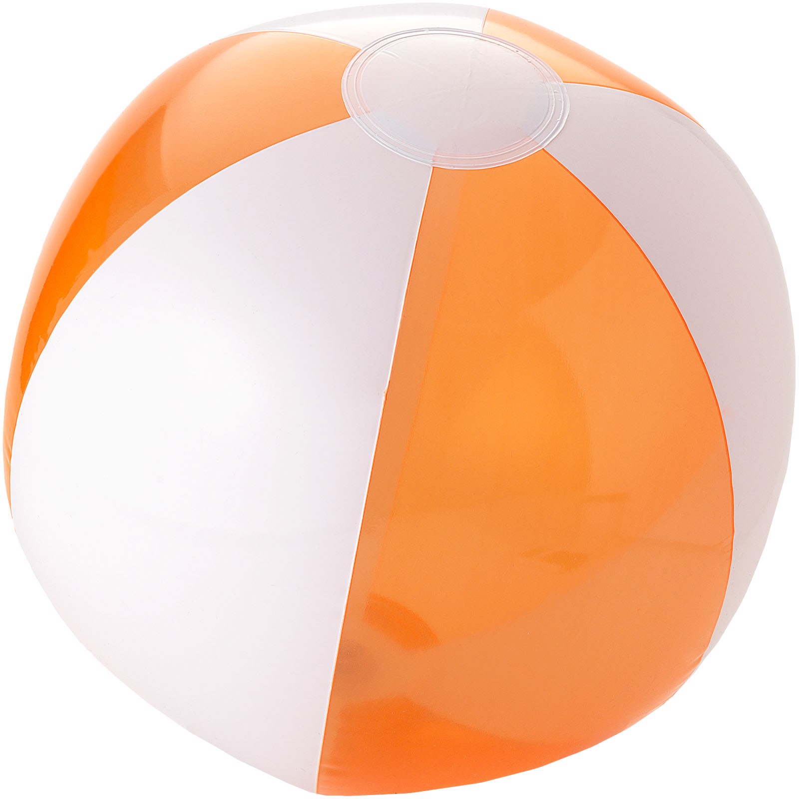 Bondi solid and transparent beach ball - Transparent Orange / White