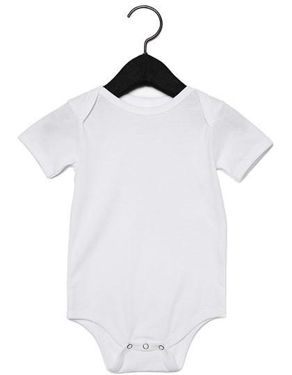 Baby Jersey Short Sleeve Onesie - White / 12-18 months