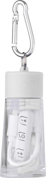 Wireless Kopfhörer 'Travel' aus Kunststoff - White