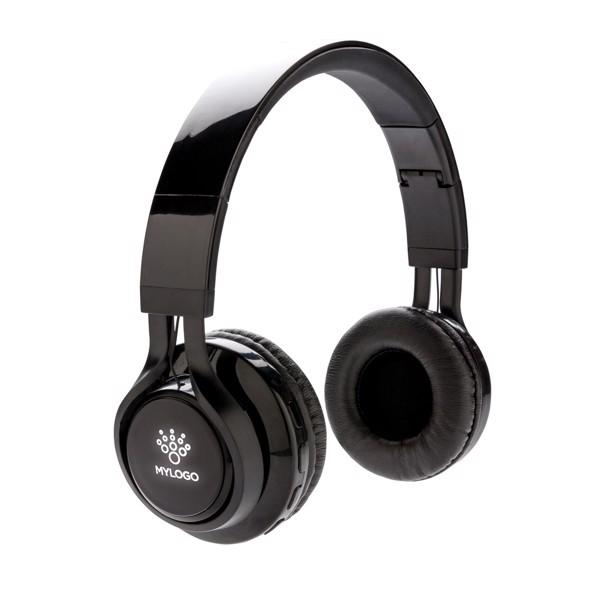 Light up logo wireless headphones