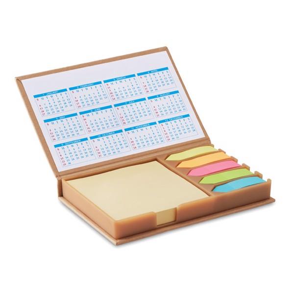 Desk set memo with calendar Memocalendar