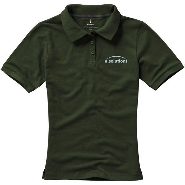 Calgary short sleeve women's polo - Army green / XXL