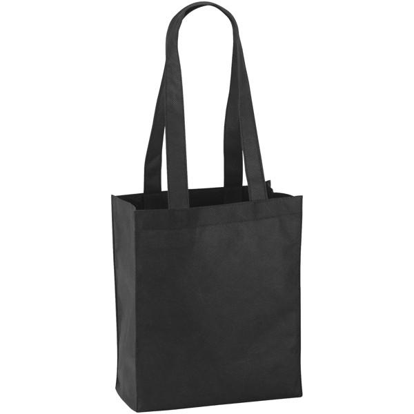 Mini Elm non-woven tote bag - Solid black