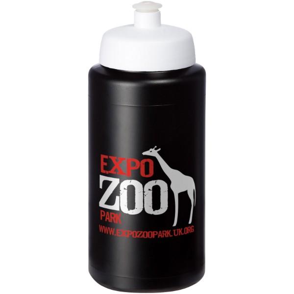 Baseline® Plus grip 500 ml sportovní lahev s víčkem na sport - Černá / Bílá
