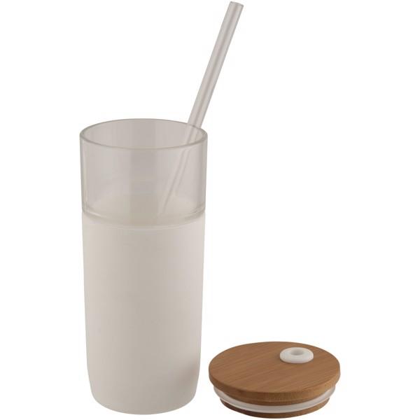 Skleněný pohárek Arlo - Bílá