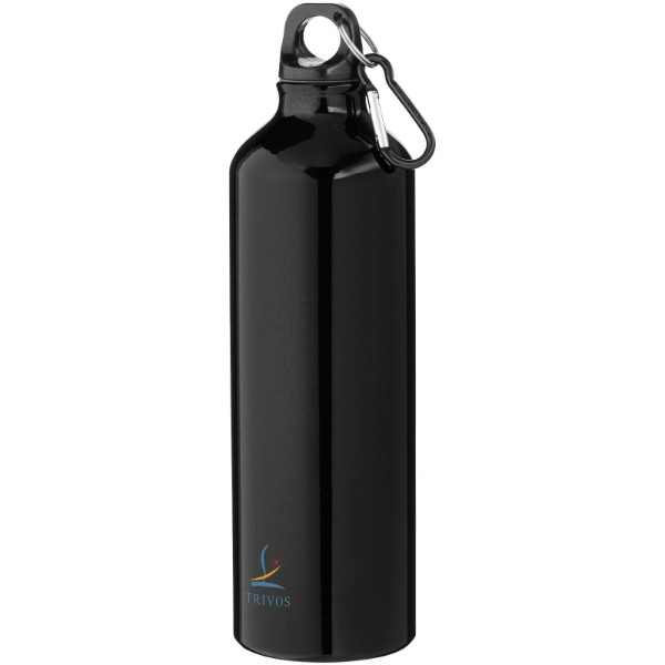 Pacific 770 ml sport bottle with carabiner - Solid black