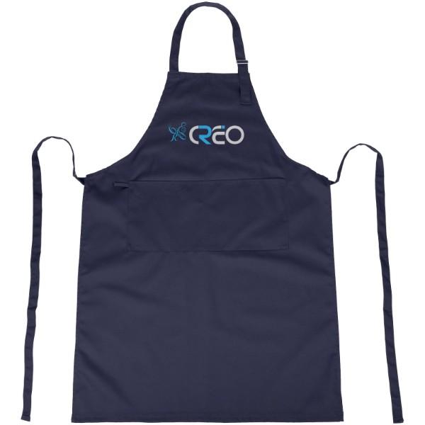 Zora apron with adjustable neck strap - Navy
