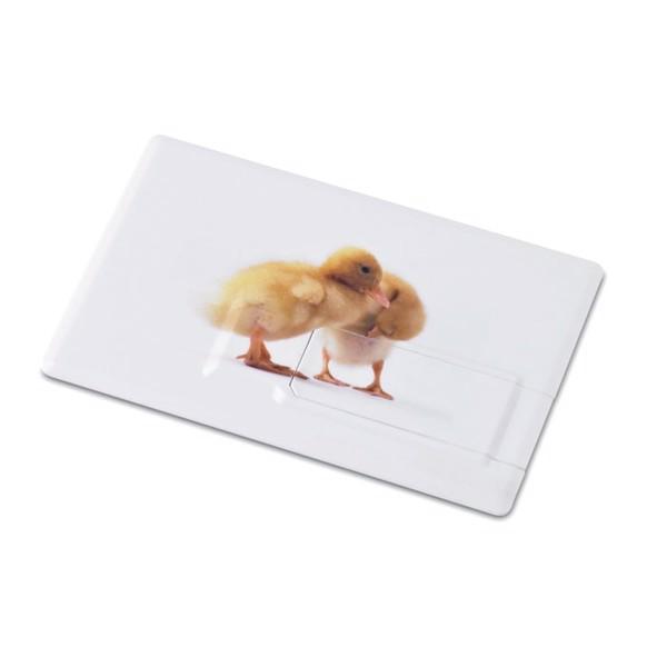 Creditcard. USB flash     4GB MO1059-06 Memorama - fehér-TESZT / 4G