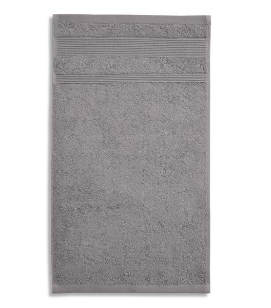 Osuška unisex Malfini Organic - Starostříbrná / 70 x 140 cm