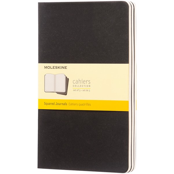 Cahier Journal L - squared - Solid black