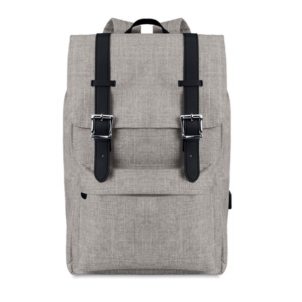 Backpack in 600D polyester Riga - Grey