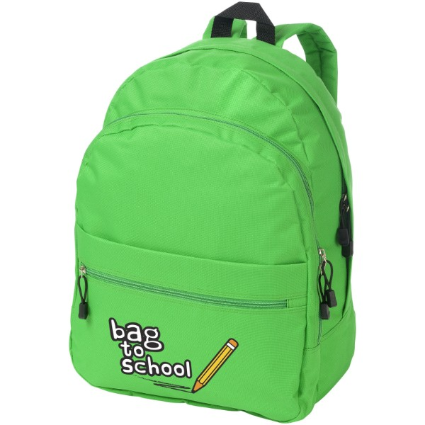 Trend 4-compartment backpack - Bright green