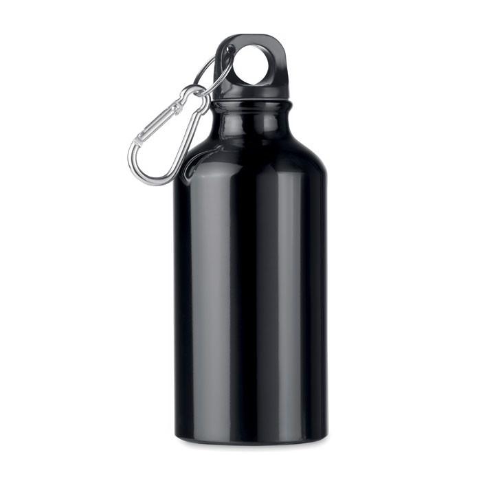 Aluminium Trinkflasche 400ml Mid Moss - schwarz