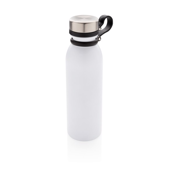 Copper vacuum insulated bottle with carry loop - White
